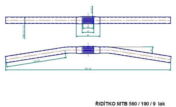 Řídítko MTB 560