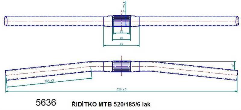 Řídítko MTB 520 lak