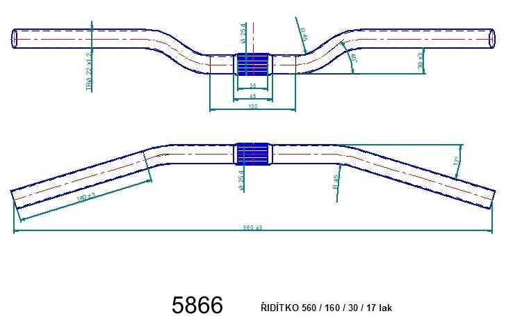 Řídítko ATB 560 lak