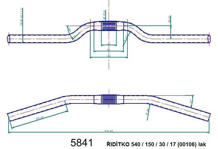 Řídítko ATB 540 lak