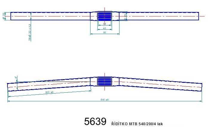 Řídítko MTB 540 lak
