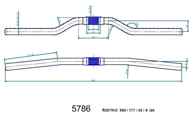 Řídítko ATB 580 lak